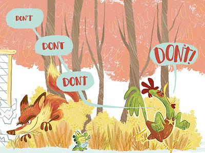 Children's Book Illustration cintiq illustration animals publishing kidlit fox rooster crocodile