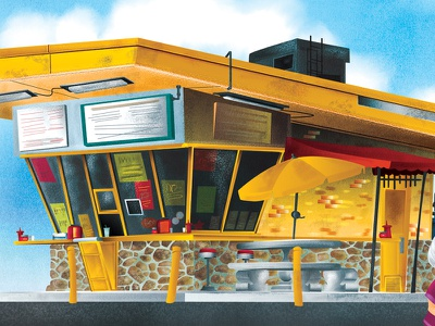 Children's Book Page childrens book stand taco illustration texture building background