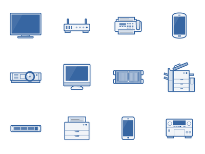 network diagram icons by andrew j lee dribbble. Black Bedroom Furniture Sets. Home Design Ideas