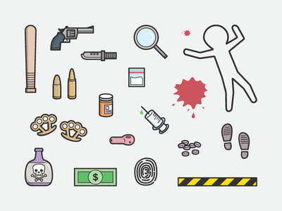Crime Scene Shape Library crime scene icon shape line illustration
