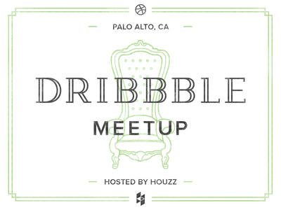 Dribbble Meetup at Houzz! dribbble meetup houzz regal chair furniture line illustration typography