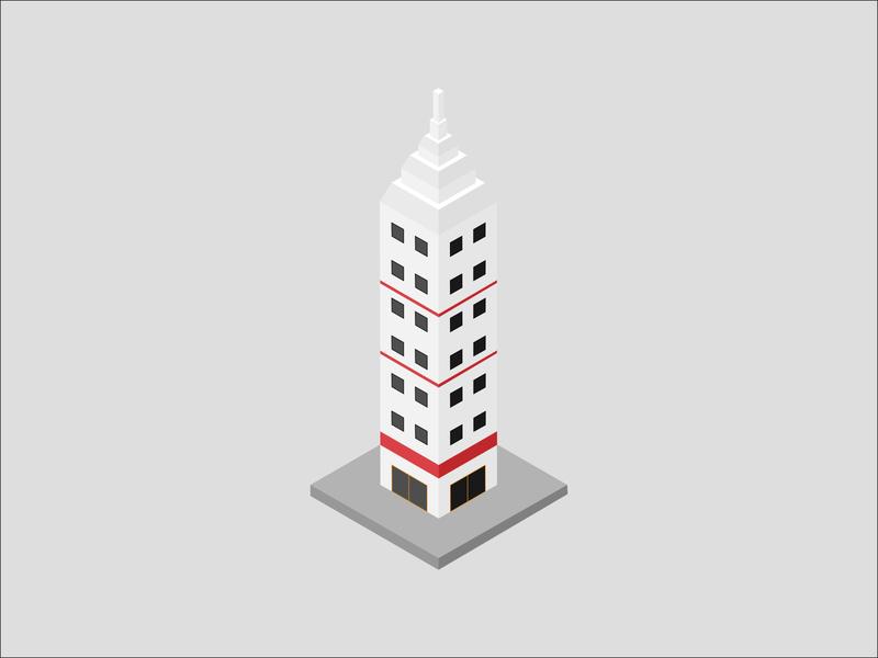 skyscraper dkng studios 3d ilustration 3d art skillshare isometric illustration isometric design isometric art isometric isometry illustrator illustration design