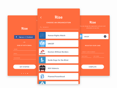 Signup dribbble