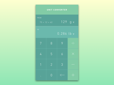 Daily UI Challenge #04 Calculator scientific converter unit calculator mobile dailyui daily 4