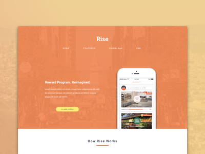 Daily UI Challenge #03 Landing Page