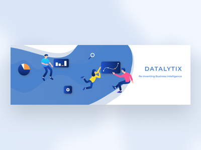 Twitter Banner blue illustrator business banner twitter figma vector illustration branding design