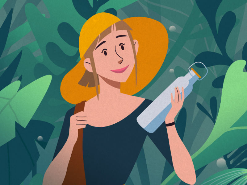 Sustainable Living illustration film sustainability business animation