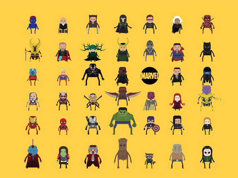 Team Marvel vector illustration illustrator marvelcomics