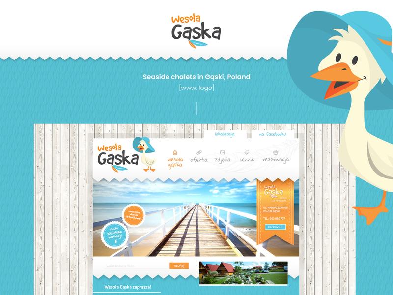 Happy Goose - seaside chalets website www bird logo bird goose chalets chalet season seaside
