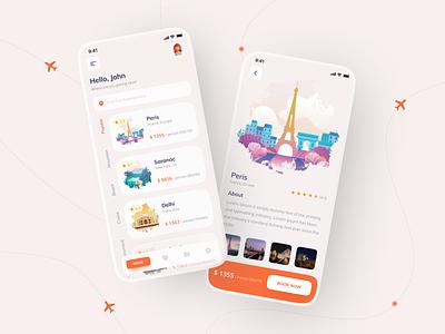 Travel App Concept application light ui app ui booking app design app design travel agency travel app traveling travel