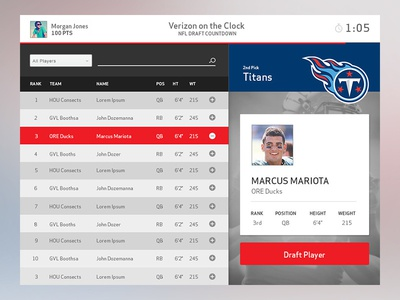 NFL Draft App