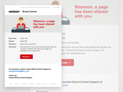 Verizon Brand Central Email Template