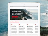 Verizon Solutions Lab App for Tablet