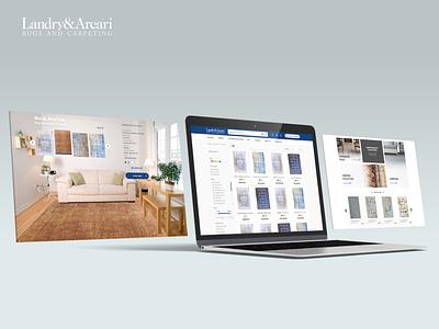 Landry & Arcaru website slider rug listpage ecommerce