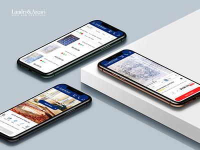 Landry & Arcary website in mobile mode mobile app details page app design responsive design