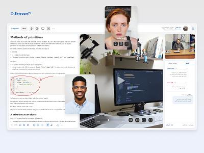 Modern webinar tool training video call videocall website webinar