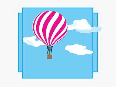 Balloon blue sky design illustration balloon
