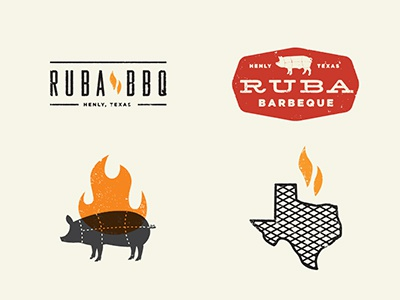 BBQ vintage tag color logo illustration icon retro design old type shape bbq food hungry manly texas grill cook fire pig bacon pork chops paper