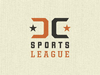 Dc Sports League logo dc orange texture sports