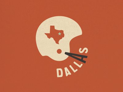Dallas vintage design packaging logo texture illustration football texas dallas