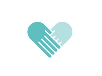 Love lake logo illustration love hands heart symbol identity dallas mark