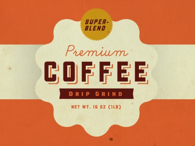 Premium Coffee vintage label can icon paper conceptual texture color vintage logo graphic design label coffee old