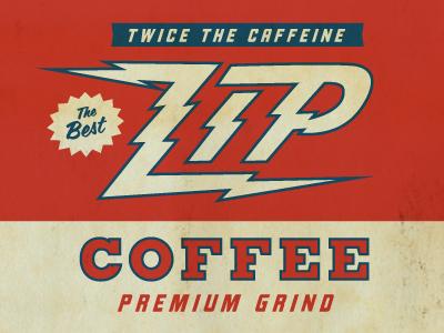 Zip Coffee vintage label can icon paper conceptual texture color vintage logo graphic design label coffee old