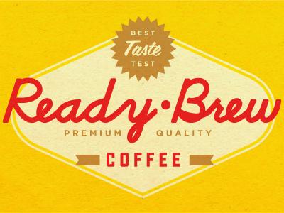 Ready Brew vintage label can icon paper conceptual texture color vintage logo graphic design label coffee old