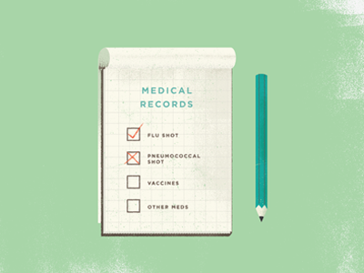 Pad vintage icon paper conceptual texture color logo graph design old chart shot syringe needle stats illustration