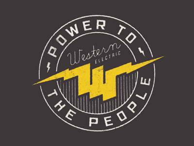 Power To The People fossil tee vintage black white texture graphic logo illustration concept trees tshirt