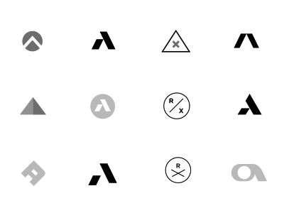 Icons logo icon a vintage color texture lack of color gray identity shape design