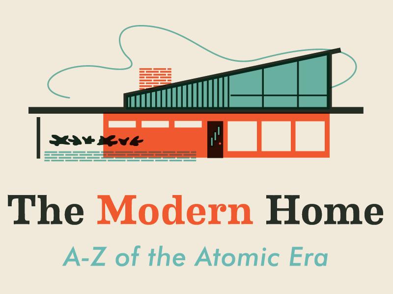 The Modern Home vintage home vintage color house alphabet texture design logo coming soon