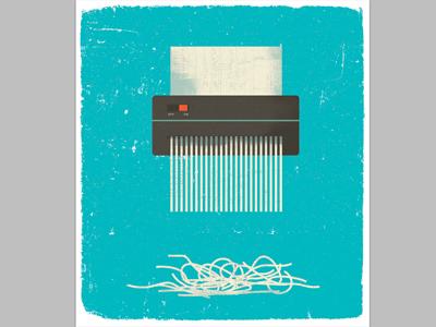 Aarp 2 design vintage desk taxes phone lamp texture graphic logo illustration shredding