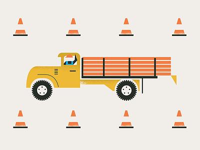 Safety vintage home vintage color texture design logo coming soon truck construction