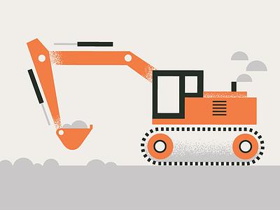 Dig vintage home vintage color texture design logo coming soon truck construction