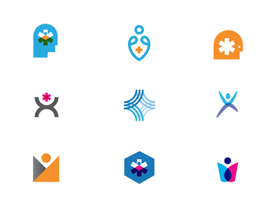 Icons vintage home vintage color health texture design logo helping head icon
