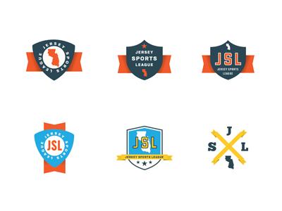Jersey Sports League logo sports new jersey league vintage color icon mark