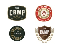 Camp Logos color camp label icon vintage texture logo beer