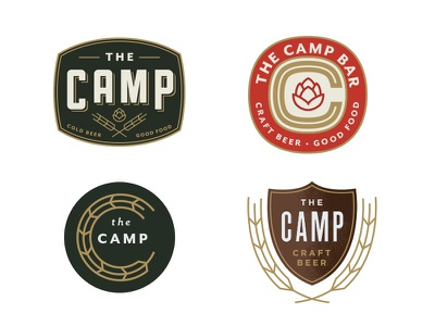 Camp Logos color camp label icon vintage texture logo beer
