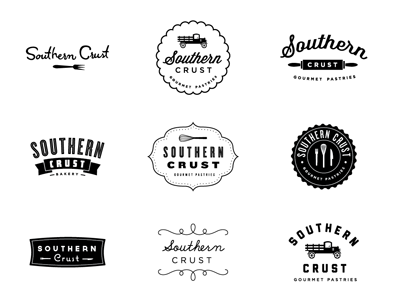 Southern Crust logo vintage color icon mark identity pies bakery pastries yummy