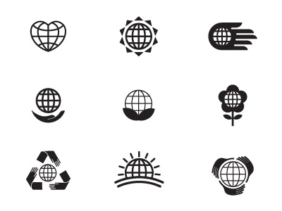 Earth day logo options