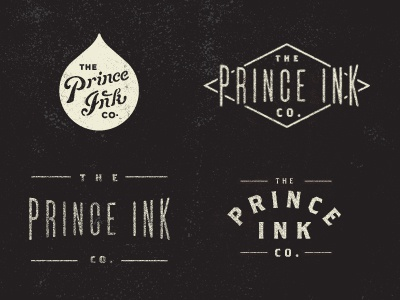 Prince Ink vintage color texture illustration icon retro old design made in america type quality crafted screen print ink distress