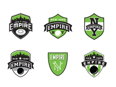 Ny Empire Logos vintage color texture illustration icon retro old design sports ny ultimate frisbee disc league competition