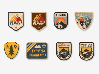 Vintage Ski Patches