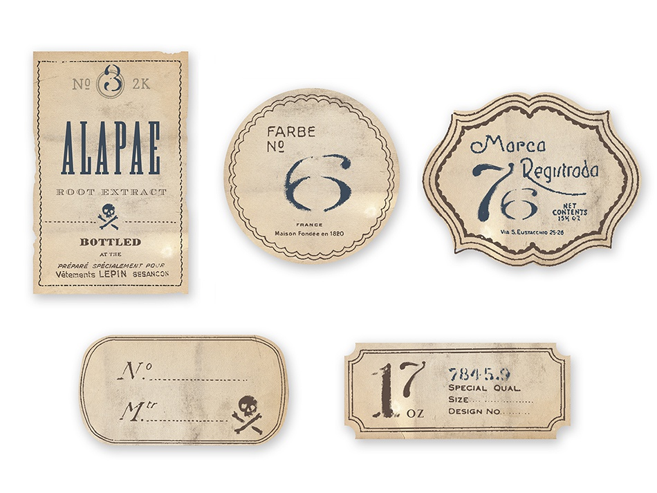 Old labels larger