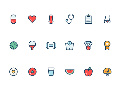 Health Icons by Clover - Dribbble