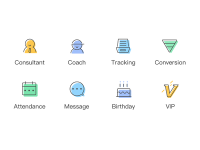 Icons for CRM system coach crm icon