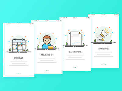 Guide page marketing data membership schedule illustration guide app