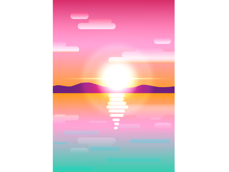 sunset studying sunset vectorart illustration design vector vector art study illustrator