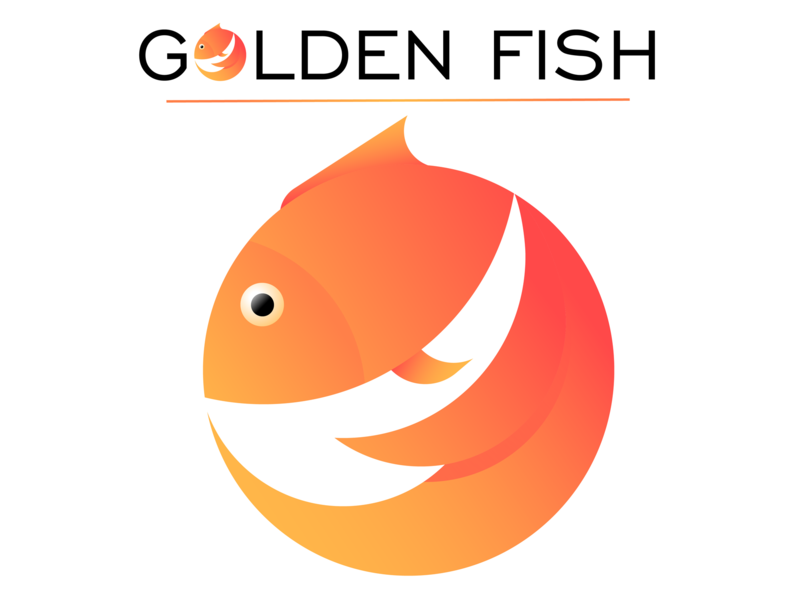 Golden Fish logo design fish animal studying vectorart logo branding vector illustration illustrator vector art study